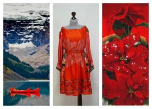 Платье из красного японского шелка