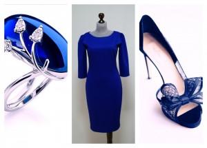 Синее платье оттенок электрик