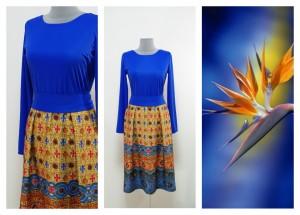 Синее рыжее платье Украина