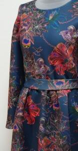 Теплое платье с птичками колибри