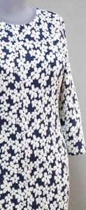 Платье из объемной ткани