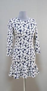 Мини-платье в белый цветочек
