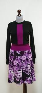 Теплое платье с вертикальной полосой, юбка-восьмиклинка