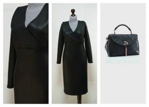 Нарядное черное платье ХЛ