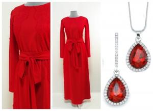 Красивое длинное яркое красное платье длинное макси