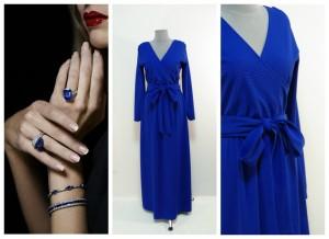 Синее платье макси купить интернет Украина