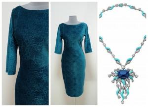 2017 красивое бирюзовое платье