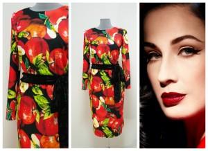 2017 платье с яблоками