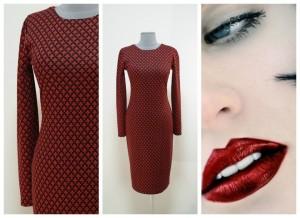 2017 платье-карандаш зима