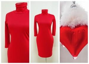 2017 красное платье-гольф