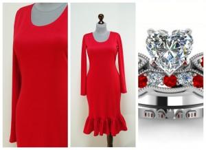 2017 нарядное красное платье