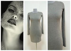 2017 серое платье из шерсти