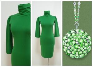 2017 платье-гольф зеленого цвета