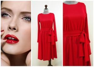 2017-2016 классическое красное платье фото Украина