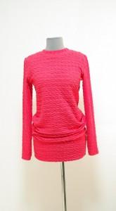Модная коралловая туника как платье