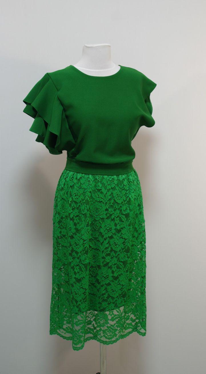 Купить Платье Гипюровое С Одним Рукавом