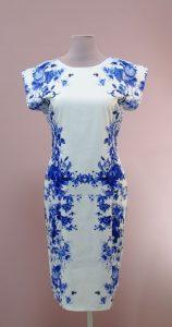 Платье Белое С Синими Цветами С Доставкой