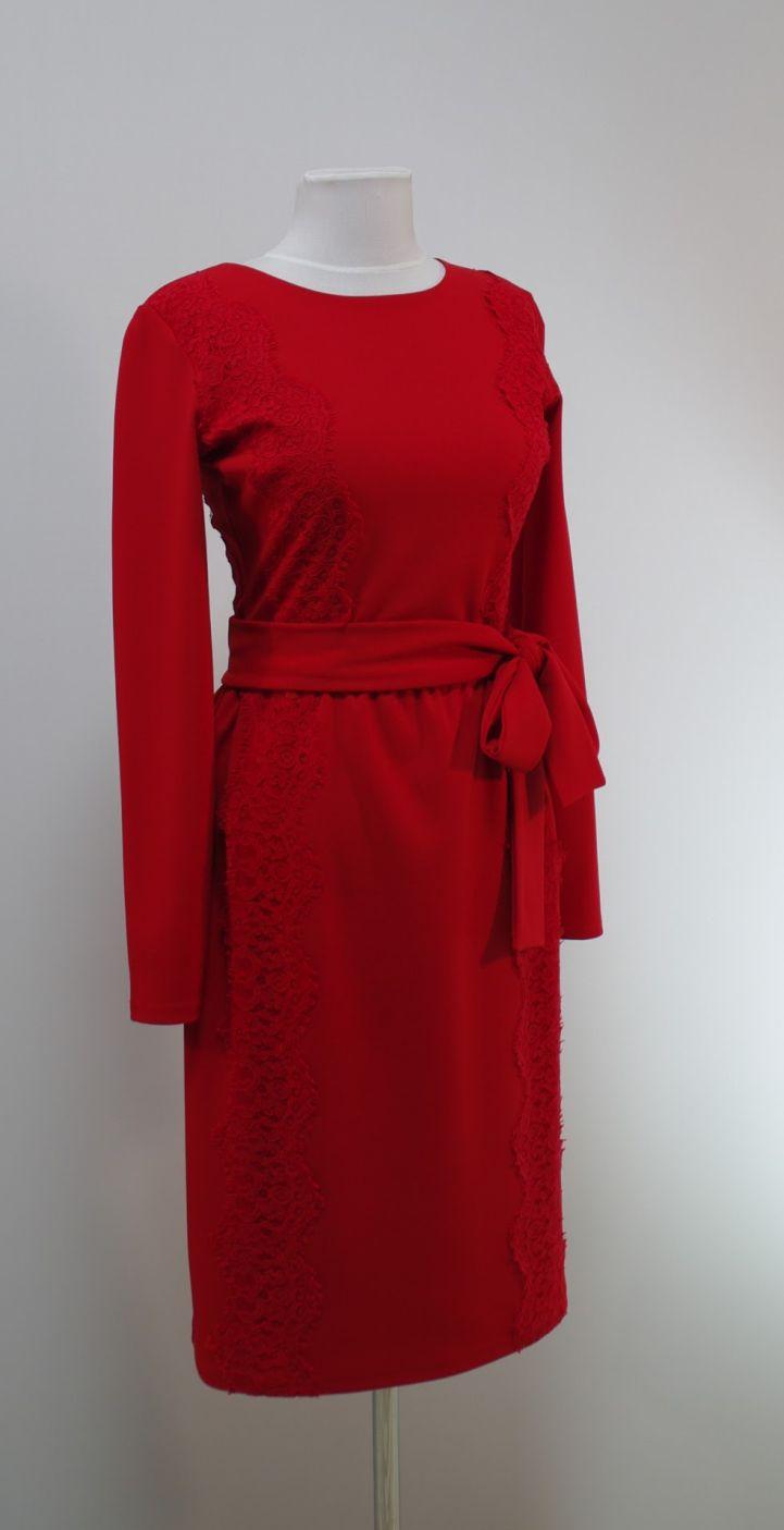 Красное Платье С Кружевами Купить