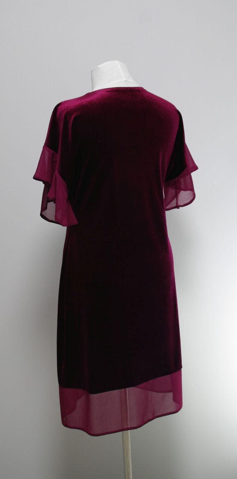 Купить Платье С Воланами На Рукавах